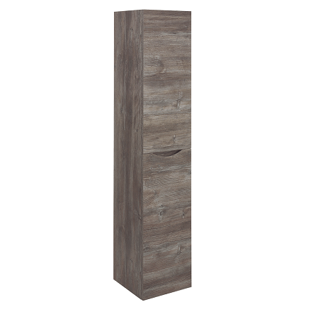 Bauhaus Glide II Tall Wall Hung Driftwood Tower Storage Unit-0