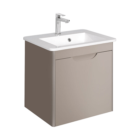 Bauhaus Solo 50cm Matt Coffee Wall Mounted Vanity Unit-0