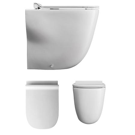 Bauhaus Wild Back To Wall Toilet Pan No Seat WI6007CW-0
