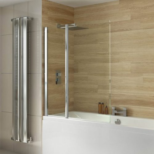 .dilusso .dBATHSCREEN 2 Panel Pivot 6mm Bathscreen 1150mm-0