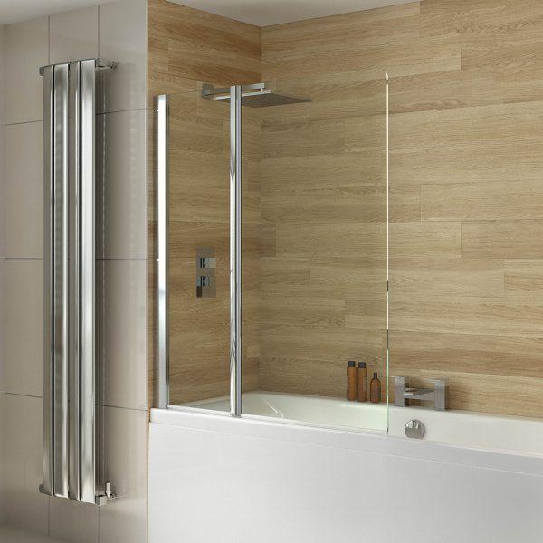 .dilusso .dBATHSCREEN 2 Panel Pivot 6mm Bathscreen 1150mm-0