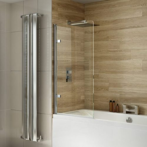 .dilusso .dBATHSCREEN Hinged Round Top 8mm Bathscreen 800mm-0