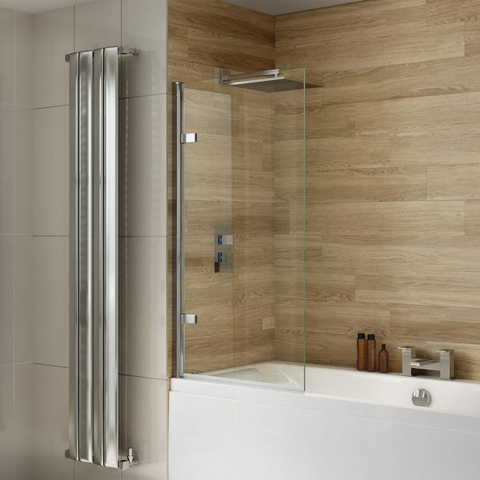 .dilusso .dBATHSCREEN Hinged Square Top 8mm Bathscreen 800mm-0