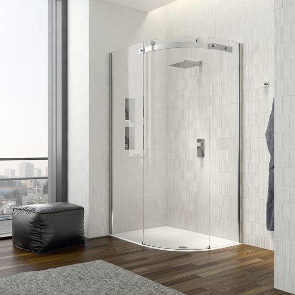 .dilusso .dTEN 1 Door Offset Quad 900mm x 1200mm Shower Door-0