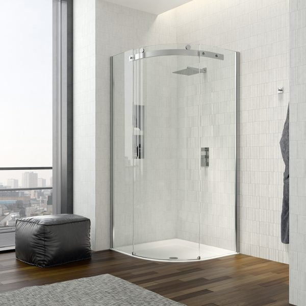.dilusso .dTEN 1 Door Quadrant 1000mm Shower Door-0