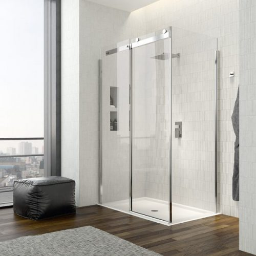 .dilusso .dTEN Side Panel 900mm Shower Door-0