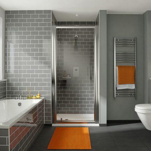 .dilusso .dFOUR 6mm Pivot Shower Door 700mm Shower Door-0