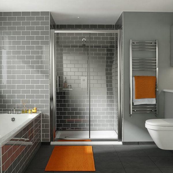 .dilusso .dFOUR 6mm Sliding Shower Door 1400mm Shower Door-0