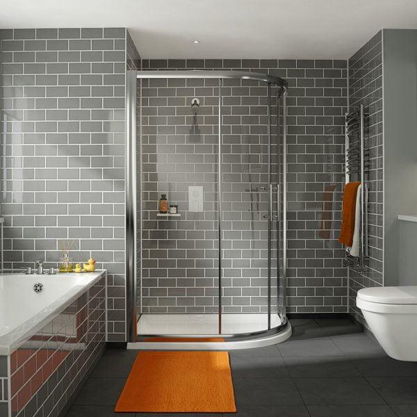 .dilusso .dFOUR 2 Door 6mm Offest Quadrant 900mm x 1200mm Shower Door-0