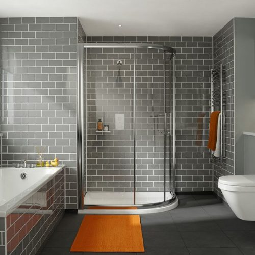 .dilusso .dFOUR 2 Door 6mm Offest Quadrant 800mm x 1000mm Shower Door-0