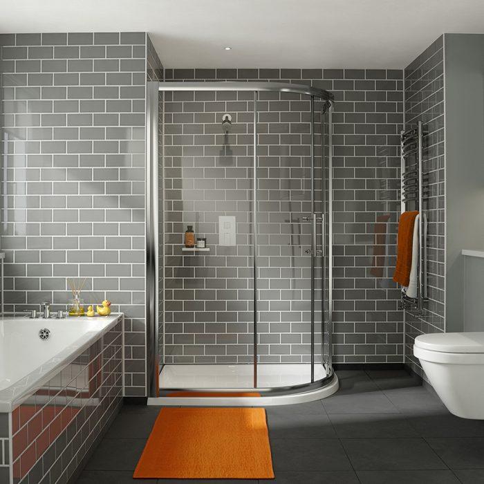 .dilusso .dFOUR 2 Door 6mm Offest Quadrant 800mm x 1000mm Shower Door-0