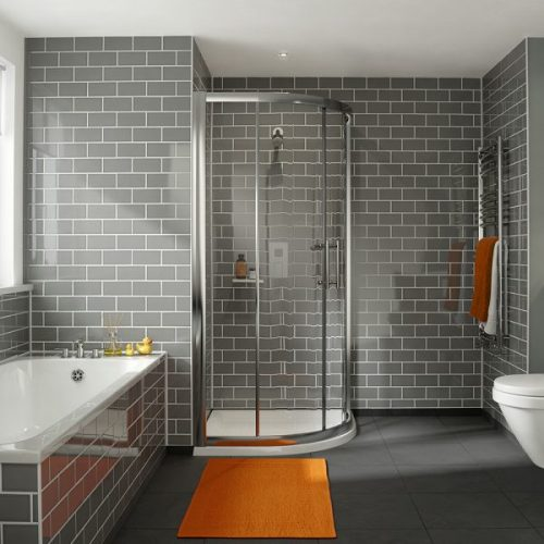 .dilusso .dFOUR 6mm 2 Doorb Quadrant 1000mm Shower Door-0