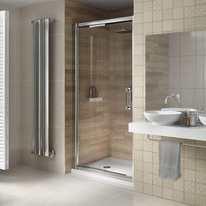 .dilusso .dSIX 6mm Inswing Shower Door 1000mm-0