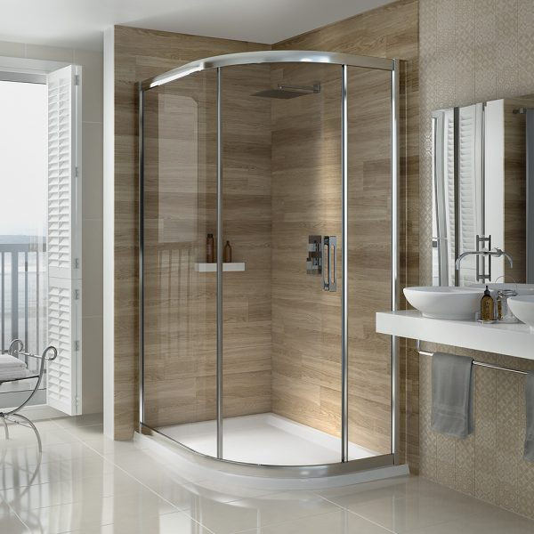.dilusso .dSIX 6mm 1 Door Offset Quadrant 900mm x 1100mm Shower Door-0