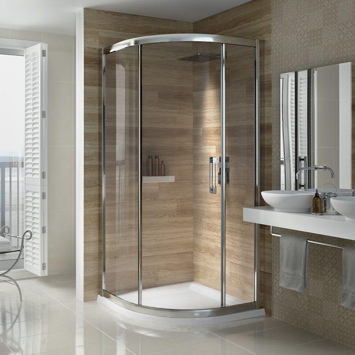 .dilusso .dSIX 1 Door Quadrant 900mm Shower Door-0