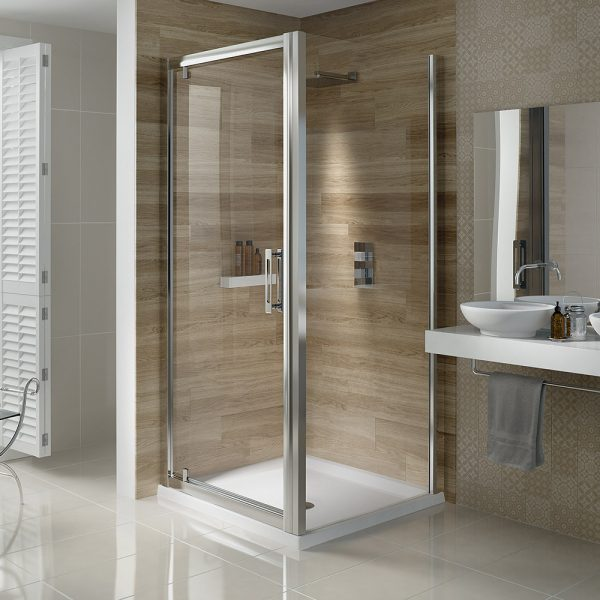 .dilusso .dSIX 6mm Glass Pivot Shower Door 700mm-0