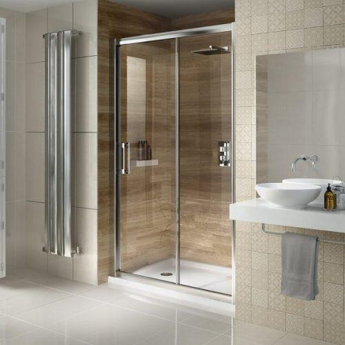 .dilusso .dSIX Smm Glass 130cm Sliding Shower Door 1300mm-0