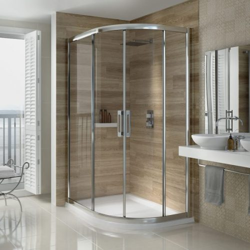 .dilusso .dSIX 2 Door Offset Quadrant 900mm x 1000mm Shower Door-0
