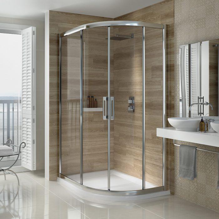 .dilusso .dSIX 2 Door Offset Quadrant 900mm x 1000mm Shower Door-0