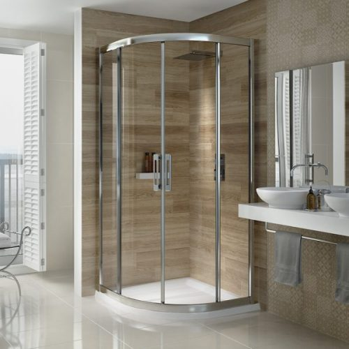 .dilusso .dSIX 2 Door Quadrant 1000mm Shower Door-0