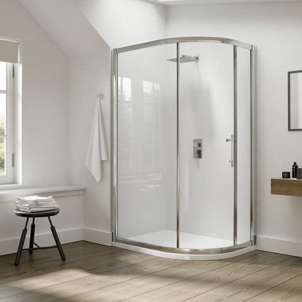 .dilusso .dEIGHT 1 Door Offest Quadrant 900mm x 1100mm Shower Door-0