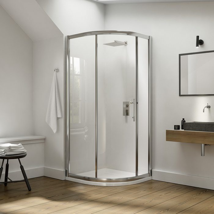 .dilusso .dEIGHT 1 Door Quadrant 900mm Shower Door-0