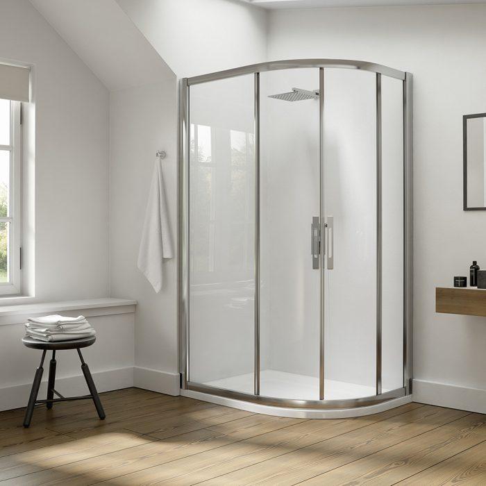 .dilusso .dEIGHT 2 Door Offest Quadrant 900mm x 1100mm Shower Door-0