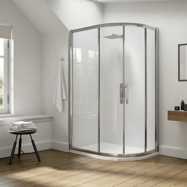 .dilusso .dEIGHT 2 Door Offest Quadrant 760mm x 900mm Shower Door-0