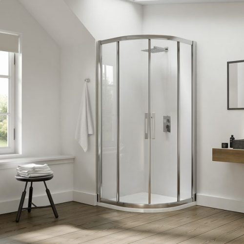 .dilusso .dEIGHT 2 Door Quadrant 1000mm Shower Door-0