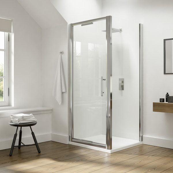 DEIGHT Side Panel 700mm Shower Door 0