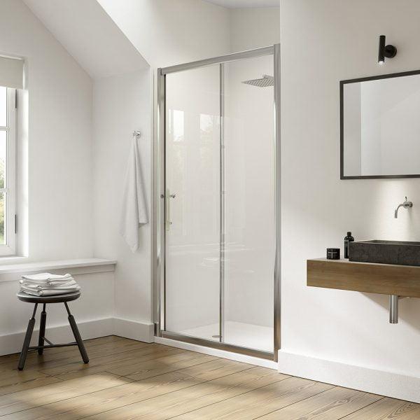.dilusso .dEIGHT Sliding Door 1000mm Shower Door-0