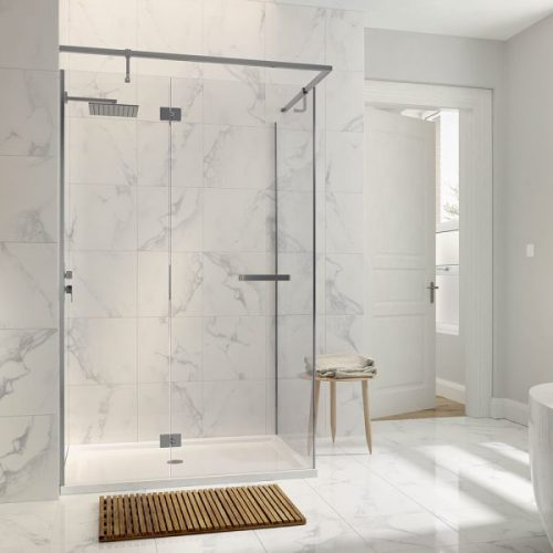 .dilusso .dNINE Hinge and Inline Door 900mm Shower Door-0