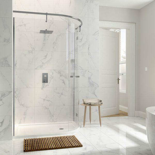 .dilusso .dNINE 1 Door Offset Quadrant 900mm x 1200mm Shower Door-0