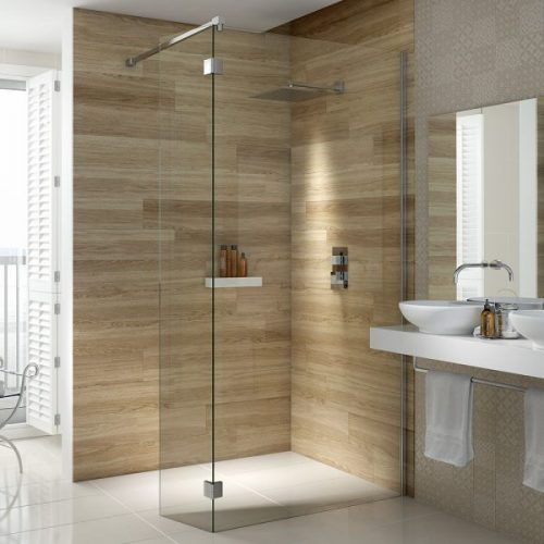 .dilusso .Hinged Flipper (1200 + 300) Shower Door-0