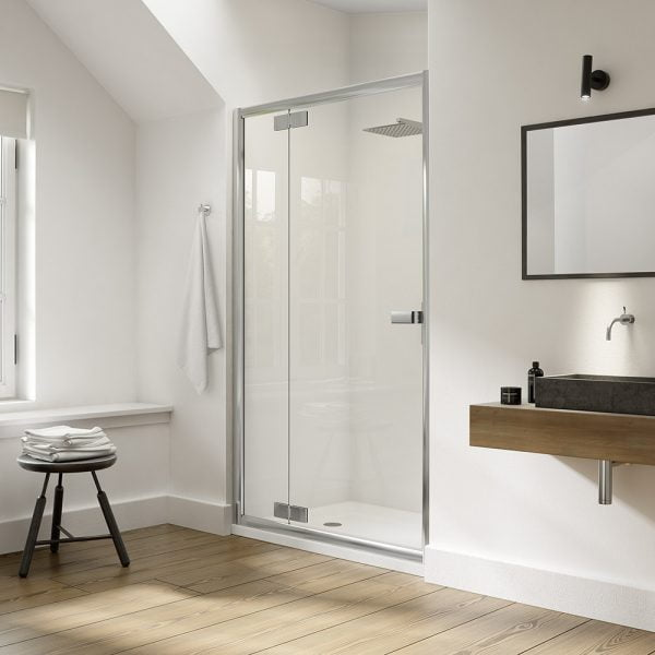 .dilusso .dEIGHT Inline Hinge (800 Door + 600 Panel) Shower Door-0