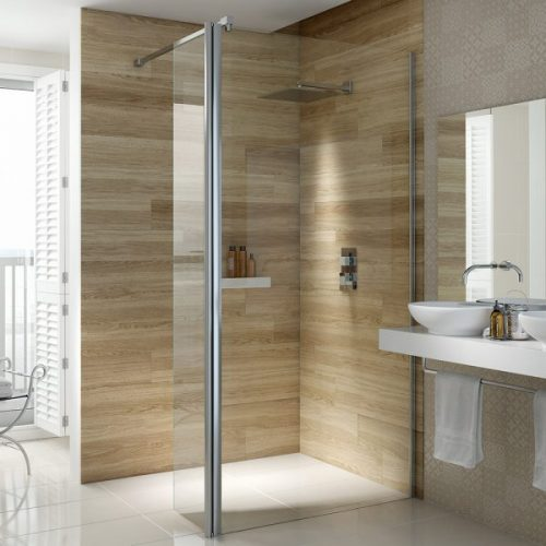 .dilusso .300mm Flipper Panel (1900mm high) Shower Door-0