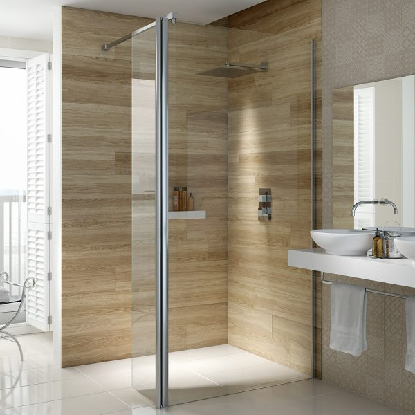 .dilusso .300mm Flipper Panel (1900mm high) Shower Door-0