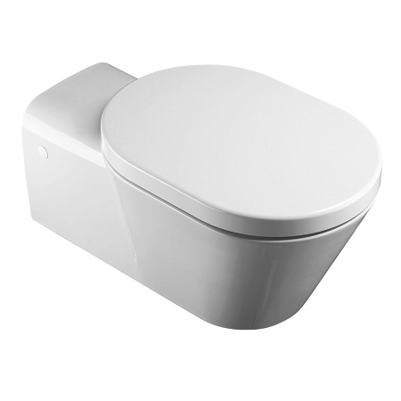 Saneux Care 70cm Wall Hung Pan With Soft Close Seat-0