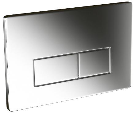 Saneux Flushe 2.0 Square Stainless Steel Flush Plate FP161-0