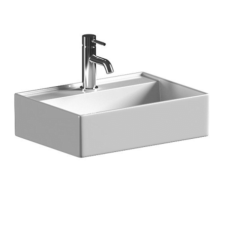 Saneux Icon 50 x 35cm 1 Tap Hole Rectangular Washbasin-0