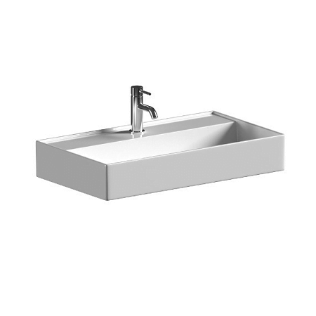 Saneux Icon 80 x 45cm Wall Mounted One Tap Hole Washbasin-0