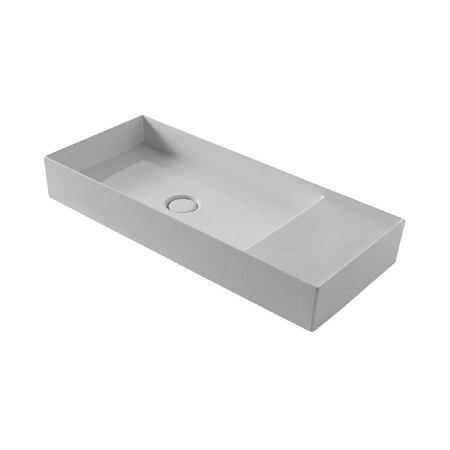 Saneux Icon 85 x 37cm No Tap Hole Washbasin Only-0