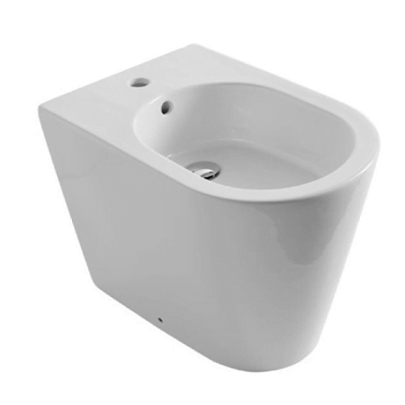 Saneux Icon Round Back To Wall Bidet Pan No Tap Included-0