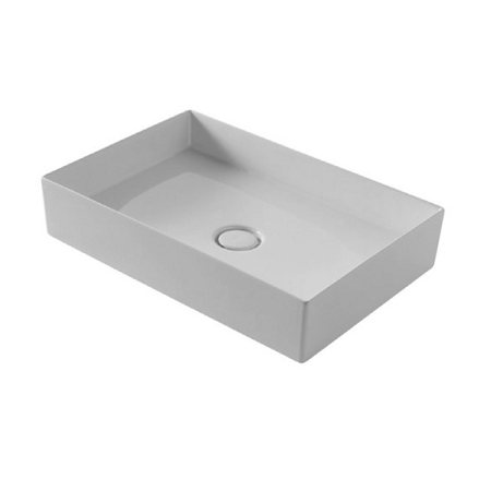 Saneux Icon 60 x 37cm Rectangular Ceramic Sit On Washbasin-0