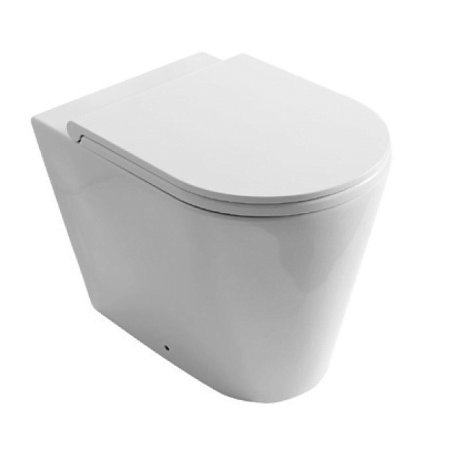 Saneux Icon Round Back To Wall WC Pan & Soft Close Seat-0