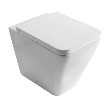 Saneux Icon Square Back To Wall WC Pan and Soft Close Seat-0