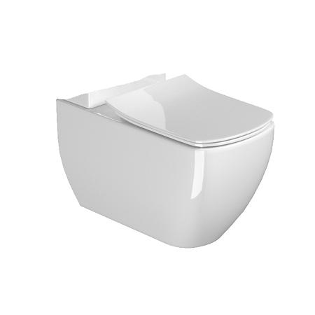 Saneux Indigo Art Back To Wall WC Pan And Soft Close Seat-15129