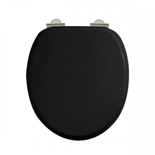 Arcade Black Gloss Soft Closing Toilet Seat No Handle-0