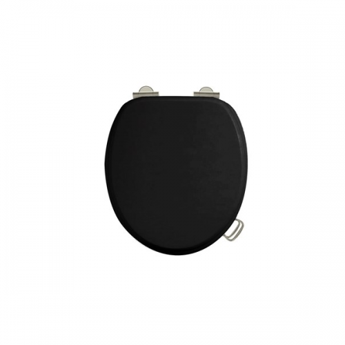 Arcade Black Gloss Soft Closing Toilet Seat No Handle-15603