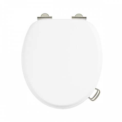 Arcade White Gloss Soft Closing Toilet Seat No Handle-15625